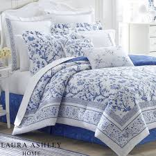 Laura Ashley Bedroom Charlotte Blue And White Floral Comforter Bedding By Laura Ashley