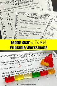 Teddy Bear Picnic Simple S.T.E.A.M. Worksheets - Simply Kinder