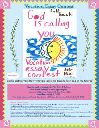 vocations essay contest how will you serve the church diocese  vocessay20150108