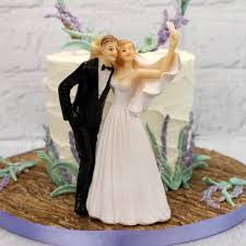 Comical Selfie Bride And Groom Resin Cake Topper