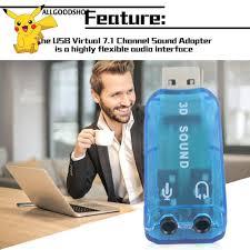 Card Âm Thanh Mic / Loa 3D USB 1.1 7.1 CH Cho PC Laptop - Phụ kiện âm thanh