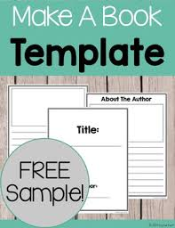 Make A Book Template Free Sample
