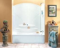 Bathtubs And Showers At Lowes 60w One Piece Tub Shower Combo