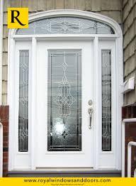 white single front doors. Fine Front Single Entry Door  White Finish Two Side Lites Transom Designer Glass Inside Front Doors 5