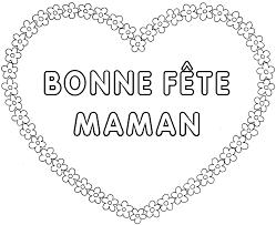 Coeur Fleur Bonne F Te Maman Colorier Fete Des Meres
