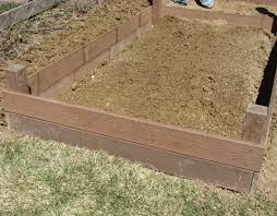 building garden beds. eco gardening, childrens garden, family build raised garden beds building v