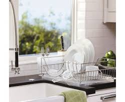 Kitchen Dish Rack Functional Steel Framed Dish Rack For Kitchen Counter Trends4uscom