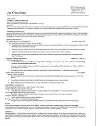 Example Of A Marketing Report And Sports Marketing Resume Examples