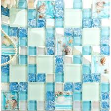 glass mosaic tile green le glass mosaic tile wall hand paint glass tile resin with shell