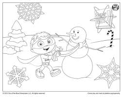 Small Picture Super Why Coloring Page Super Why Building a Snowman Happy