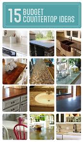 ... Stunning Cheap Kitchen Countertop Ideas Awesome Home Design Plans With  15 Budget Countertop Ideas Diy Cozy ...