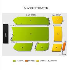 Aladdin Theater Seating Chart Aladdin Theater Tickets