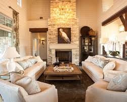 Beautiful Cozy Living Room With Fireplace Design Stone Texas Southern To Simple