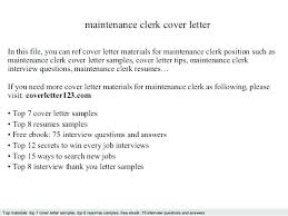 Cover Letter For Clerk Position With No Experience Cover Letter