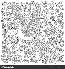 Kleurplaten Voor Volwassenen Vogels Papegaai Flugsaurier 2 In