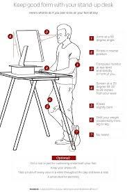 ergonomic desk height captivating ergonomic standing desk setup best ideas about stand up desk on computer