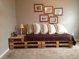 Living Room Brown Cover Brown Wood Pallet Sofa Pallet Outdoor Furniture  Pallet Furniture Projects Shipping Pallet