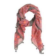 August silk <b>chiffon</b> scarf <b>Gladiolus</b> and Poppy scarf Nude Beige Red ...