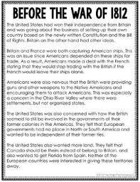 War Of 1812 Chart War Of 1812 Jigsaw Method Activity U S History War Of