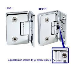 colcom 8501 8501r glass to wall shower door hinge view 3