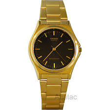 casio gold watch men casio mtp 1130n 1a men s gold stainless steel analog dress watch w black