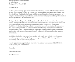 Astonishing Sample Cover Letter For A Teaching Position 83 Ideas Of