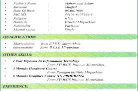 Cv Profile Example Uk Best Formats Format Of Good Resume Template