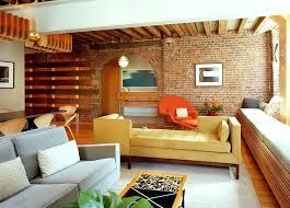 bricks furniture. The Bricks Furniture Exposed Wall Corner Yellow Sofa Mason City Iowa