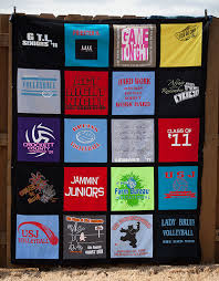 T Shirt Memory Quilt Makers | T-Shirts to Treasures & 4 x 5 T-Shirt Blanket Adamdwight.com