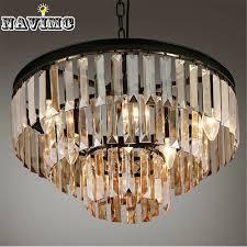 vintage french glass crystal chandelier light fixture black cottage american white suspension lamp hanging light for dining room diy pendant lamp pendant