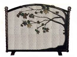 pea stained glass fireplace screen faux fireplace screen fireplace replacement screen western