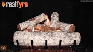 real fyre white birch vented gas log set