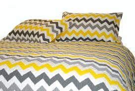 yellow and gray chevron bedding pixshark
