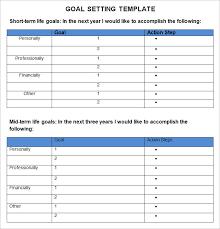 Life Goal Chart Template Goal Setting Charts Excel Xlsx Templates