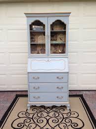 vintage jasper cabinet secretary desk hutch