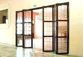 accordion glass doors folding patio home depot cost in india g door s wood glass doors dark flooring chic patterned carpet natural folding cost