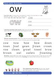 Exercises picture dictionaries picture stories preparing for lessons pronunciation exercises (phonics) reading comprehension exercises role plays, drama and improvisation activities sentence. Teach The Grapheme Ow With This Phonics Worksheet Teachwire Teaching Resource