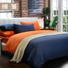 orange and blue comforter orange comforter queen pillow case small denim cotton bed sheets ed solid