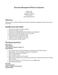 Business Resume Business Resume Business Management Resume Example