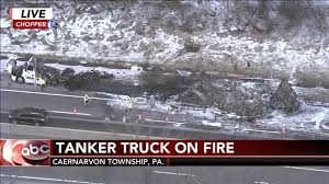 Truck Carrying Pineapples Catches Fire On Pa Turnpike In Berks County