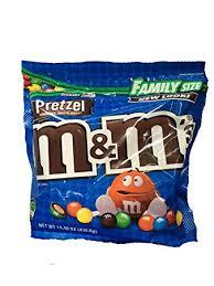 m ms pretzel family size 15 4 oz package