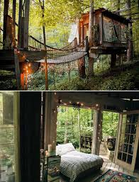 Outdoor: Treehouse Lighting Ideas - Forest Treehouse