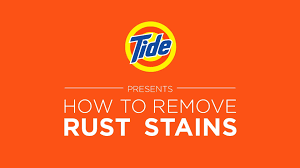 How To Clean Rust Stains Tide Laundry Tips How To Remove Rust Stains Youtube