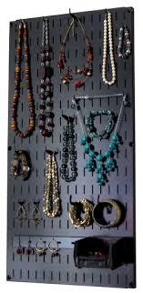Jewelry Organizer Wall Hanging Jewelry Holder Necklace Rack - Black Wall  Mounted Jewelry Organizer