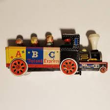 Vintage musudaya locomotive tin toys
