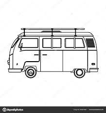 Camper Van Graphics Design Camper Van Icon Stock Vector Jemastock 233910658