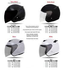 Voss 111 Three Quarter Dot Certified Helmets