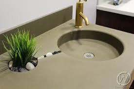 Concrete Sink with Plant