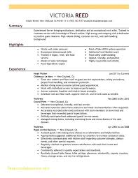 Food Service Resume Objective Best Food Service Resume Template