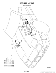 Nissan 300zx 1984 z31 electrical system workshop manual page 108 harness layout